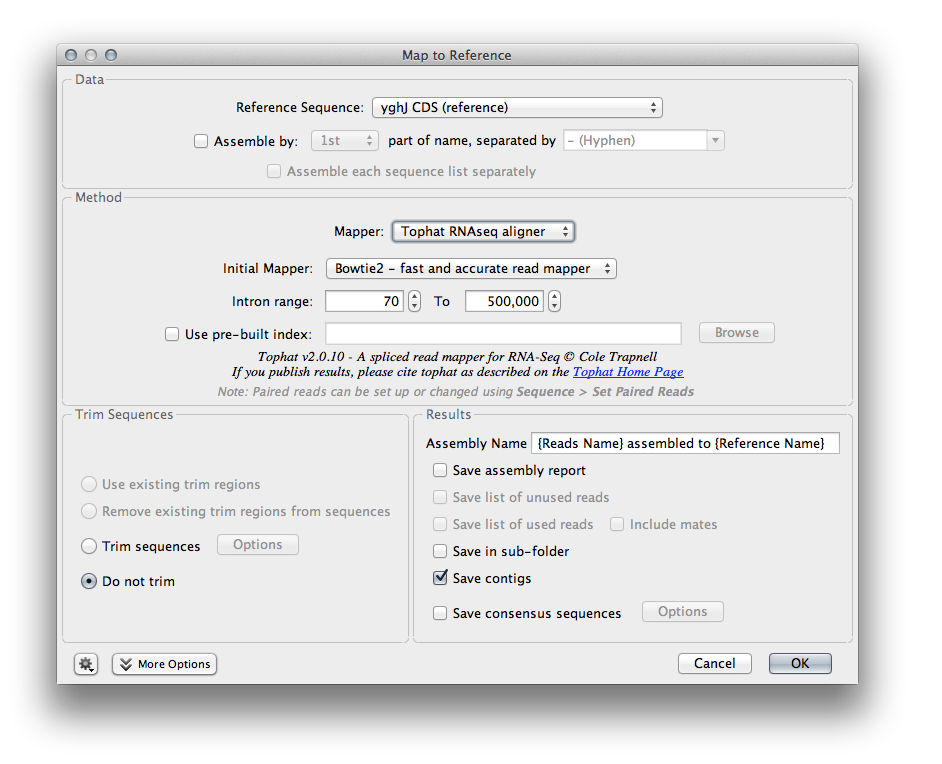 Screenshot of TopHat