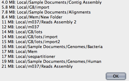 Screenshot of Find Big Folders