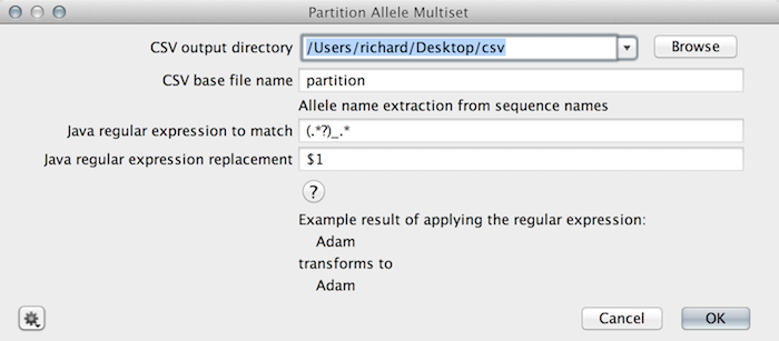 Partition allele multisets from multiple alignments